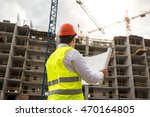 rear view on engineer on...   Shutterstock . vector #470164805