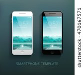 mobile smartphones template set ... | Shutterstock .eps vector #470167571