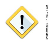 exclamation danger sign | Shutterstock .eps vector #470174135