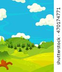 cartoon happy nature scene  ... | Shutterstock . vector #470174771