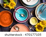 vintage multicolored empty... | Shutterstock . vector #470177105