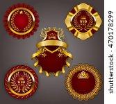 set of elegant templates for... | Shutterstock .eps vector #470178299