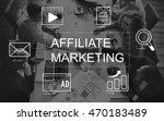 social media advertisement... | Shutterstock . vector #470183489
