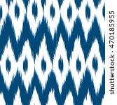 ikat vector seamless pattern.... | Shutterstock .eps vector #470185955