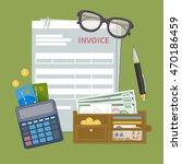 paper document invoice form....   Shutterstock .eps vector #470186459