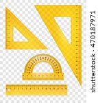 yellow rulers and triangles set.... | Shutterstock .eps vector #470187971