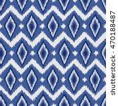 ikat fabric seamless pattern... | Shutterstock .eps vector #470188487