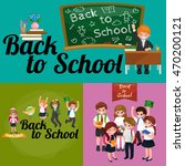 back to school and children... | Shutterstock .eps vector #470200121