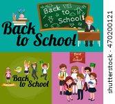 back to school and children... | Shutterstock .eps vector #470200121