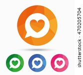 chat sign icon. speech bubble... | Shutterstock .eps vector #470205704