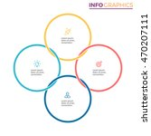 connected circles for... | Shutterstock .eps vector #470207111