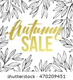 autumn hand written lettering.... | Shutterstock .eps vector #470209451