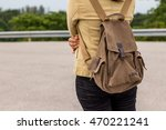the girl stood out travel bag ... | Shutterstock . vector #470221241