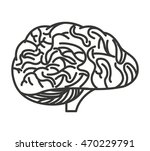 brain storming isolated icon... | Shutterstock .eps vector #470229791