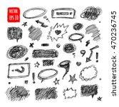 hand drawn speech bubbles....   Shutterstock .eps vector #470236745