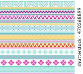 tribal seamless pattern.... | Shutterstock .eps vector #470268899