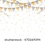 gold and silver party... | Shutterstock .eps vector #470269394