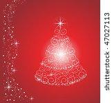 shiny christmas tree  vector | Shutterstock .eps vector #47027113