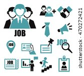 job search icon set | Shutterstock .eps vector #470272421