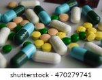 many drug on white background