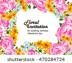 abstract flower background with ... | Shutterstock . vector #470284724