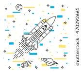space shuttle flight vector... | Shutterstock .eps vector #470292665