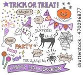 halloween material set | Shutterstock .eps vector #470296877