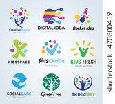 creative logo design set  brand ... | Shutterstock .eps vector #470300459