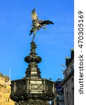 Small photo of London, UK, February 18, 2015: Statue of Eros at Piccadilly Circus
