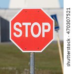 Small photo of Old stop sign on an abandoned USAF air base in Iceland