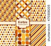 retro seamless patterns set....   Shutterstock .eps vector #470308205