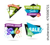 special offer sale banner.... | Shutterstock .eps vector #470308721