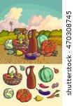autumn harvesting. vector...   Shutterstock .eps vector #470308745