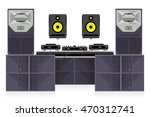 dance club sound system vector...