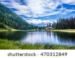 the lake nambino in the alps... | Shutterstock . vector #470312849