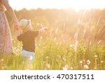 back view on a cute little... | Shutterstock . vector #470317511