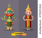 thailand ramayana giant...   Shutterstock .eps vector #470321261