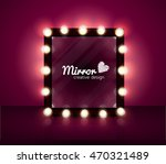 mirror realistic vector... | Shutterstock .eps vector #470321489