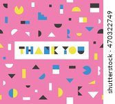thank you card design. poster.... | Shutterstock .eps vector #470322749