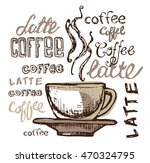 coffee collection   hand drawn...   Shutterstock .eps vector #470324795