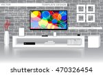 template design modern living... | Shutterstock .eps vector #470326454