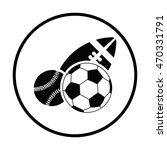 sport balls icon. thin circle... | Shutterstock .eps vector #470331791