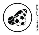 sport balls icon. thin circle... | Shutterstock .eps vector #470331791
