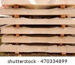 Sleepers Stock In Railway Depo...