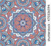 seamless oriental ornamental... | Shutterstock .eps vector #470336594
