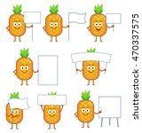 set of cartoon pineapple... | Shutterstock .eps vector #470337575