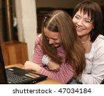 mother   daugther looking at... | Shutterstock . vector #47034184