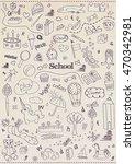 children school pattern | Shutterstock .eps vector #470342981