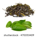 Dried Tea Leaf Isolated On...