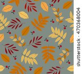 autumn seamless pattern with... | Shutterstock .eps vector #470368004